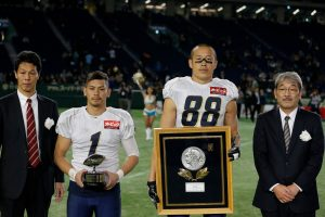 2016 Japan X Bowl. Obic Seagulls vs. Fujitsu Frontiers. Postgame.